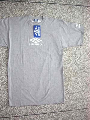 Sports wear supplier imports mens clothing. Mens umbro t-shirt in