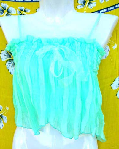 Summer apparel wholesale retail store supplies Baby blue ladies top in